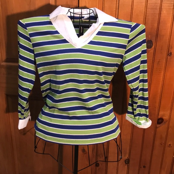 62c8c5d66f8 Kim Rogers Knit Shirt Nwot